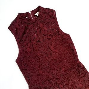 Dark Wine Lace Romper